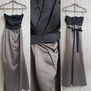 Vera Wang White Label grey black formal dress 14
